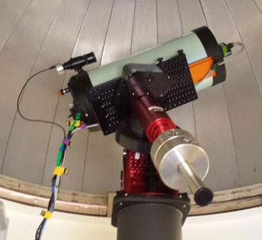 Figure 1. this robotic mount, capable of supporting several different optical telescopes and instruments, is installed in an observatory located on site at lawrence livermore.