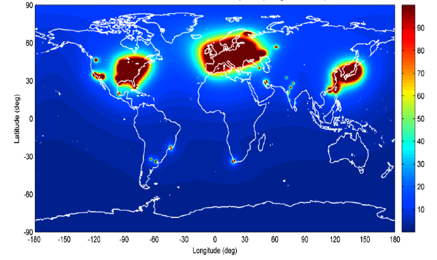 A map of the global nuclear reactor anti-neutrino flux, showing the three important industrialized regions that dominate the worldwide flux. the watchman collaboration aims to deploy the first scalable detector sensitive to such emissions over long distances. we are working to determine the long-term physics program that could be developed at such a detector.