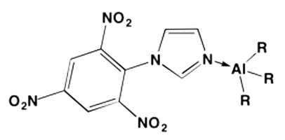 Figure 3. A complex of trimethylaluminum and picryl imidazole.