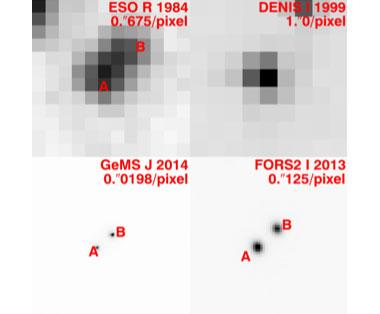 Figure 3. images of the binary brown star luhman 16 ab from which masses were derived (sources as labeled)